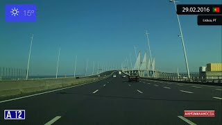 Setubal Portugal  city images : Driving through Região de Lisboa (Portugal) from Lisboa to Setúbal 29.02.2016 Timelapse x4