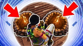 TWO CAMPFIRES in SMALLEST CIRCLE in Fortnite • Vikkstar123