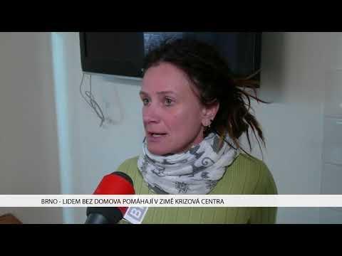 TV Brno 1: 21.11.2017 Lidem bez domova pomáhají v zimě krizová centra