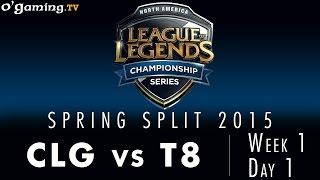 LCS NA Spring 2015 - W1D1 - CLG vs T8