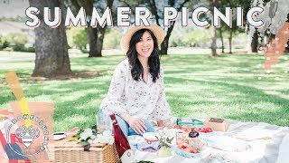 It's Summer #BuzyBeez and today we're having the perfect little Summer Picnic for Nate's Birthday! Like what you see? Links and recipes below!SUBSCRIBE: https://www.youtube.com/user/honeysucklecatering?sub_confirmation=1Anthropologie Picnic Plates: http://shopstyle.it/l/ZOjPicnic Basket: http://shopstyle.it/l/ZOrGamay Rouge Wine: http://bit.ly/2sSiE0sStrawberry Container: http://shopstyle.it/l/ZNyHat: http://shopstyle.it/l/ZOxShirt: http://shopstyle.it/l/ZNxPants (similar): http://shopstyle.it/l/ZOzRaspberry Brownies Recipe:1 cup dark chocolate chips1 stick unsalted butter1/4 tsp kosher salt½ cups sugar1 tsp vanilla2 large eggs1 egg yolk½ cup flour1 cup raspberriesPreheat oven to 325 degrees F. Line an 8 x 8 pan with parchment and set aside.In a glass bowl, set over a pan of boiling water, melt butter halfway and then stir in together dark chocolate chips. Stir mixture until almost melted and then remove from boil water.Continue stirring off hear until completely melted. Add salt and sugar to mixture and beat well. Stir in vanilla.Add eggs and beat well. Stir in flour until just combine.Gently add in half of the raspberries to the mixture, stir together, being careful not to break the fruit.Transfer the mixture to the prepared pan. Top with the remaining fruit.Bake for 25-30 minutes or until a toothpick is inserted into the middle and comes out with moist crumbs.Allow to cool, then remove from pan and cut brownies into squares.Enjoy!Quinoa Curry Salad Recipe:2 1/2 cups quinoa1 cup finely shredded carrot2 green onions, finely sliced½ cup chopped fresh parsley1canned drained garbanzo beans½ cup dried cranberries½ cup sliced almonds For the Dressing:1/4 cup apple cider vinegar1/4 cup extra virgin olive oil1 tablespoons honey 1 tbsp dijon mustard2 tablespoon curry powder2 cloves minced garlic1 tsp minced ginger2 tsps kosher salt½ teaspoon freshly ground black pepperIn a bowl, mix all ingredients together for dressing. Set aside to let flavors meld. In another bowl, add salad ingredients together and mix well. Pour curry dressing on top and stir to combine. Serve cold or at room temperature. Enjoy!Chicken Wrap Recipe:2 Boneless Skinless Chicken BreastsSeason with Kosher Salt, Pepper, Olive Oil on both sides.Roast on foil on top of a baking sheet for 25-30 min @ 375º F.Cube chicken.In a bowl add the chicken, 1 cup black beans,1/4 cup chopped cilantro1 cubed avocdao2 tsp kosher salt1/2 Lime's juice1/2 cup full fat Greek Yogurt. Mix wellBuritto sized tortillawhite cheddarWrap it up!Music by Lullatone: https://www.youtube.com/user/lullashawnMaking things Fun, Pretty, and Delicious! Honeysuckle is a lifestyle channel for young adult women interested in entertaining and cooking at home.INSTAGRAM Follow me: http://instagram.com/honeysucklecateringBLOG: http://www.honeysucklecatering.com/© 2017 Honeysuckle Catering. All Rights Reserved.