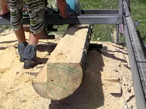 Milling Paulownia Log With Lucas Mill