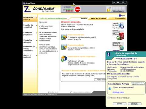 Video 2 de ZoneAlarm: Configuración de ZoneAlarm