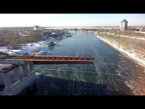 Ход строительства Фрунзенского моста вСамаре