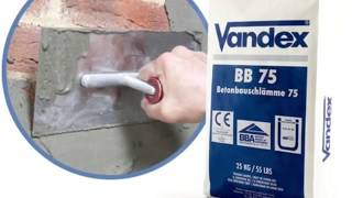 Vandex BB75 is a cementitious waterproofing slurry (tanking slurry) with hydrophobic properties