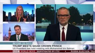 Ali Shihabi talks to the BBC about MBS's aims for US visit and Yemen