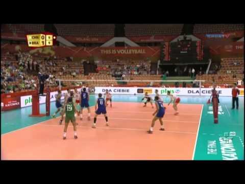 Brasil vence a China no Mundial de vôlei e conquista a 100ª vitória - 12/09/2014