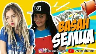 BASAH SEMUA Courtney VS Sista Nath (Nath The Lions) main GEDE BASAH (FUN GAME) uyeee channel
