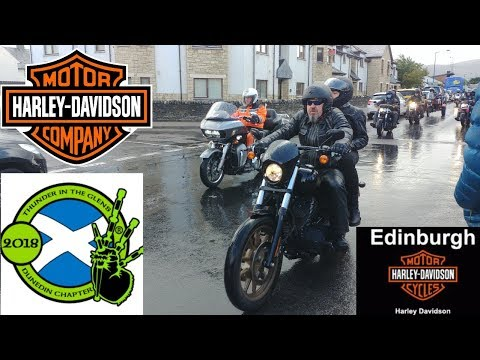Thunder In The Glens 2018 ride out (видео)