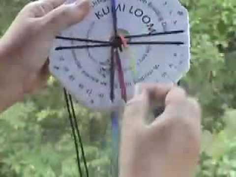 Kumihimo KumiLoom Braiding Instructions (watch me first!)