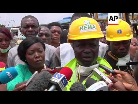 Rescue officials say death toll rises to at least 70 following building collapse in Lagos