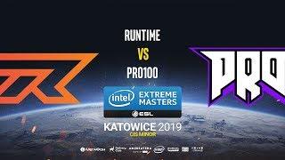 Runtime vs Pro100 - IEM Katowice CIS Minor - map2 - de_cache [Pchelkin & Gromjkeee]