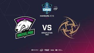 Virtus.pro vs NIP, ESL  One Hamburg, bo2, game 2 [Lex & 4ce]