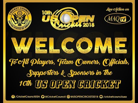 10th US OPEN CRICKET 2018 LIVE FROM Central Broward Regional Park & Stadium