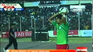 BANGABANDHU GOLD CUP 2015. Malaysia win 3-2.