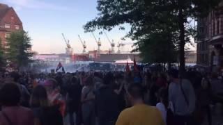 Este jueves miles de personas en Hamburgo se manifestaron contra la próxima cumbre que se desarrollará en la ciudad Alemana este viernes y sábado.