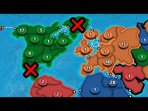 THE NORTH AMERICA STRATEGY WHICH WON'T BOTHER YOUR OPPONENTS 😎 | RISK: Global Domination