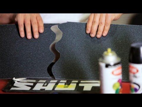 How to Cut & Apply a Grip Tape Design   Custom Skateboard