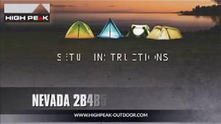 Двухслойная палатка с просторным тамбуром для снаряжения High Peak Nevada 2