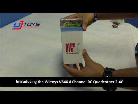 Квадрокоптер нано р/у 2.4Ghz WL Toys V646-A Mini Ufo (зеленый)