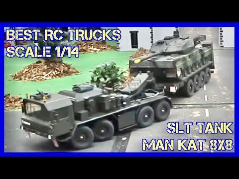 RC Scale Modell Trucks auf einem Diorama