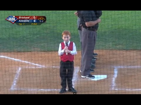 Australian Kid Battles Through Hiccups to Perform National Anthem