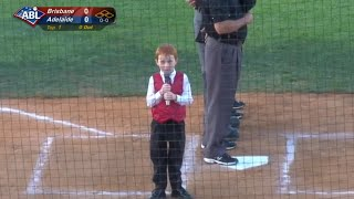 Kid Battles Through Hiccups And Performs Australian Anthem