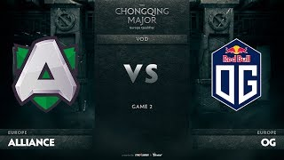 Alliance vs OG, Game 2, EU Qualifiers The Chongqing Major