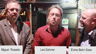 Miguel Rossetto, Elvino Bohn Gass e Leo Dahmer na Semana Farroupilha em Esteio