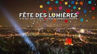 Lyon: la fête des Lumières 2014 en vidéo