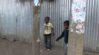 Ethiopian Boys Learning Soccer Skills