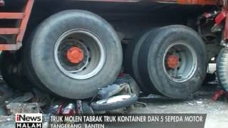 Video Truk Molen Tabrak Truk Kontainer Hingga Lindas 5 Unit Motor - iNews Malam 25/07 MP3, 3GP, MP4, WEBM, AVI, FLV November 2018
