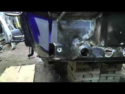 1973 Porsche 914   R Front panel repair Part 3