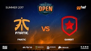 fnatic vs Gambit - DREAMHACK Open Summer - map1 - de_train [MintGod, Anishared]