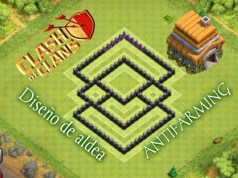 Diseño de aldea ayuntamiento 6 (Antifarming) -TH6 Farming Base -Clash