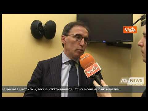 23/01/2020   AUTONOMIA, BOCCIA: «TESTO PRONTO SU TAVOLO CONSIGLIO DEI MINISTRI»