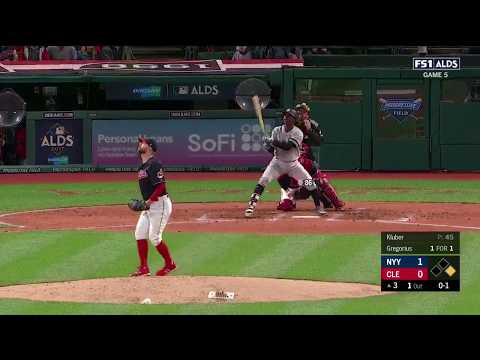 Didi Gregorius 2nd Homerun of Game vs Indians | Yankees vs Indians Game 5 ALDS