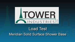 <h5>Load Test on Meridian Solid Surface Shower Base</h5>