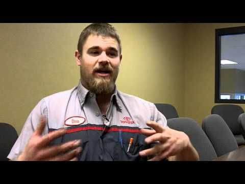 automotive technician - This video features a question and answer with Chris Krein, Automotive Technician, Cedric Theel Toyota, Bismarck, North Dakota.