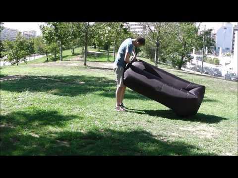 Test pouf gonflable Airnap