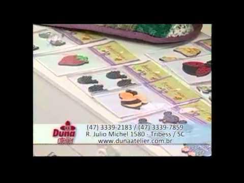 Ana Cosentino no Ateliê na TV: Jogo Americano com Carimbos DUNA
