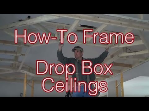 Frame - How-to frame Drop Box Ceilings http://LogFurnitureHowTo.com is another demonstration of the innovative interior remodel solutions offered up by Mitchell Dill...