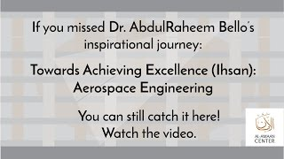 Watch this special video of Dr. AbdulRaheem Bello, a guest speaker from the October 28th Youth Halaq