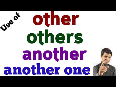 use of another, other, others & another one | how to learn other & others in English Grammar by Alam