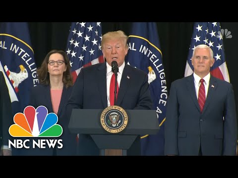 President Donald Trump Praises Gina Haspel, Thanks CIA Officers At Swearing-In Ceremony | NBC News