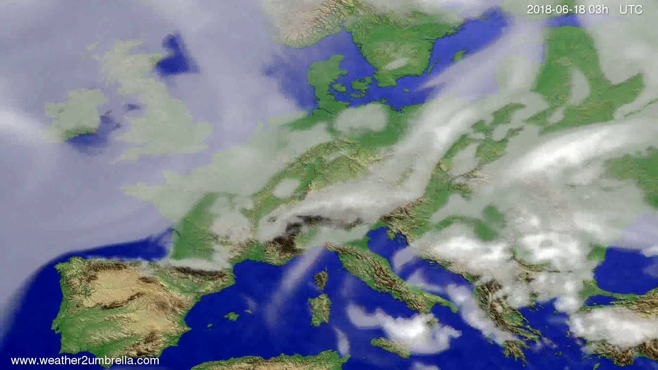Cloud forecast Europe 2018-06-15