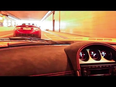 Noble M600 High Speed Chasing Aston DBS Volante in Monaco !