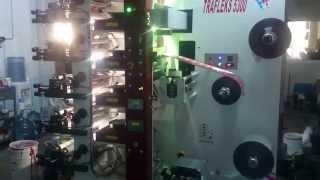 5 renk flexo baskı makinesi uv laklı