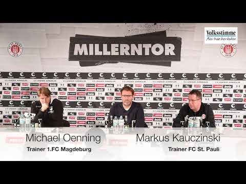 Pressekonferenz des 1. FC Magdeburg nach 1:4-Pleite beim FC St. Pauli
