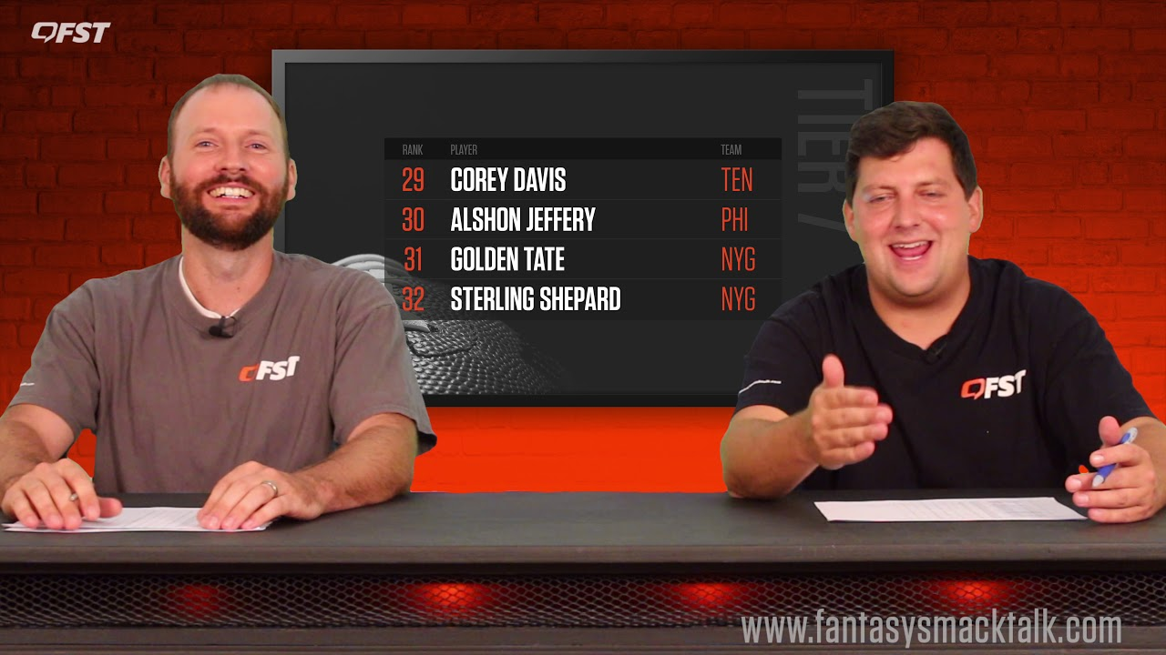 2019 Fantasy Football Wide Receiver Tiers and Rankings thumbnail